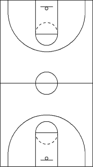This is a photo of Printable Basketball Court Diagram within free printable